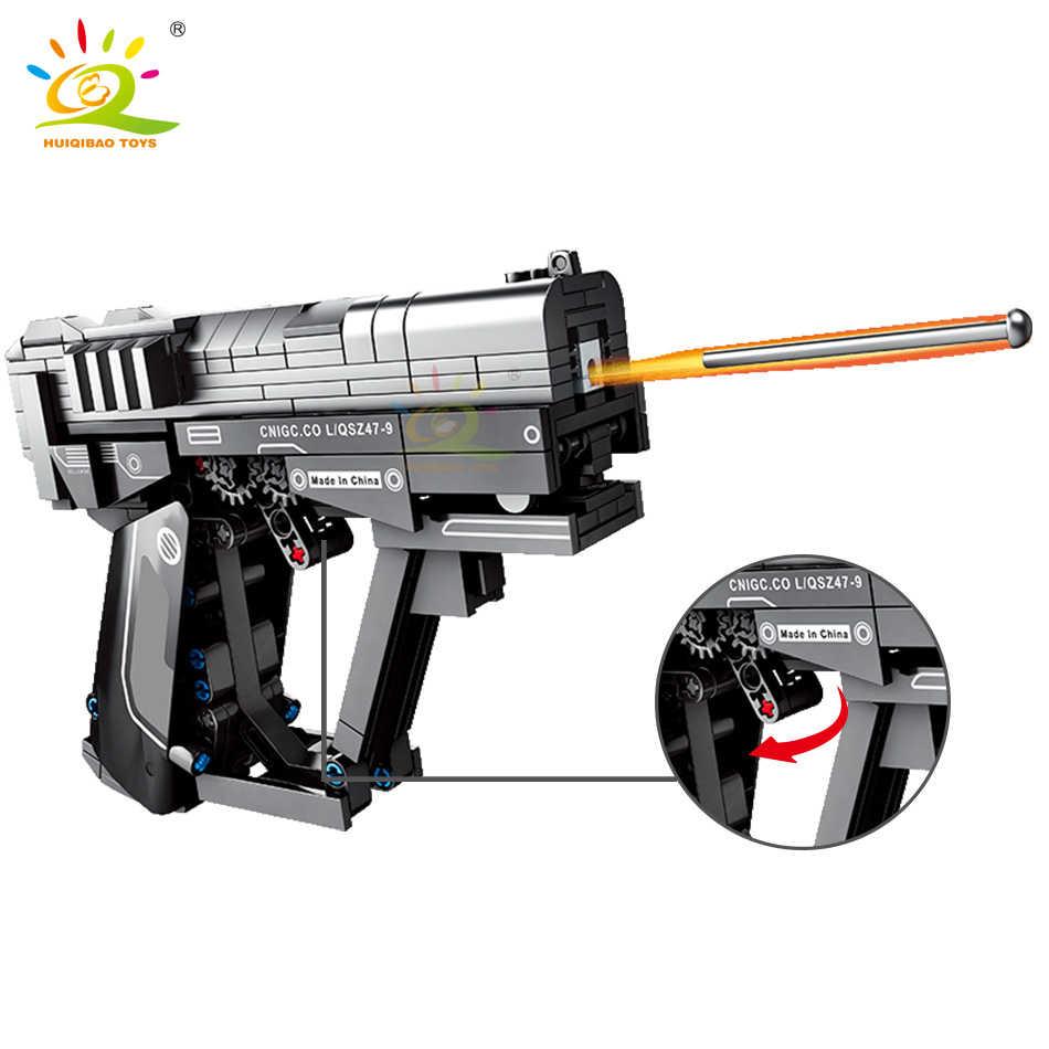 HUIQIBAO 364PCS Technic Errante Terra Segnale Pistola Building Blocks set FAI DA TE Gioco di Tiro Bricks Città Giocattoli Per i Bambini bambini
