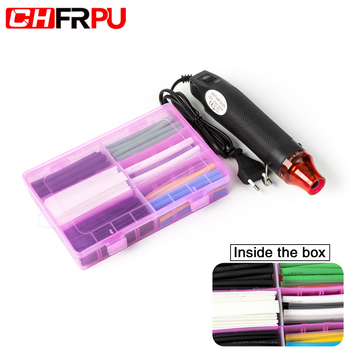 132PCS Heat shrinkable tube multi-color multi-model Insulating sleeve Data line repair DIY Hot air gun 220V 300W EU plug
