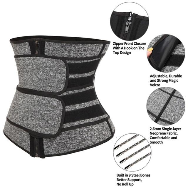 Neoprene Sweat Waist Trainer Corset Trimmer Belt for Women Weight Loss Waist Cincher Shaper Slimmer Fajas Corset 2