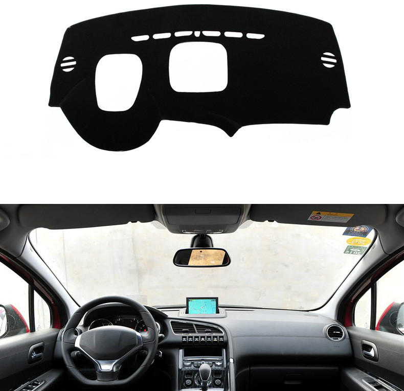Dashboard Cover Mat Pad Sun Shade Visor Instrument Cover Carpet Car Styling Accessories LHD For <font><b>Peugeot</b></font> <font><b>3008</b></font> 2013 2014 2015 <font><b>2016</b></font> image