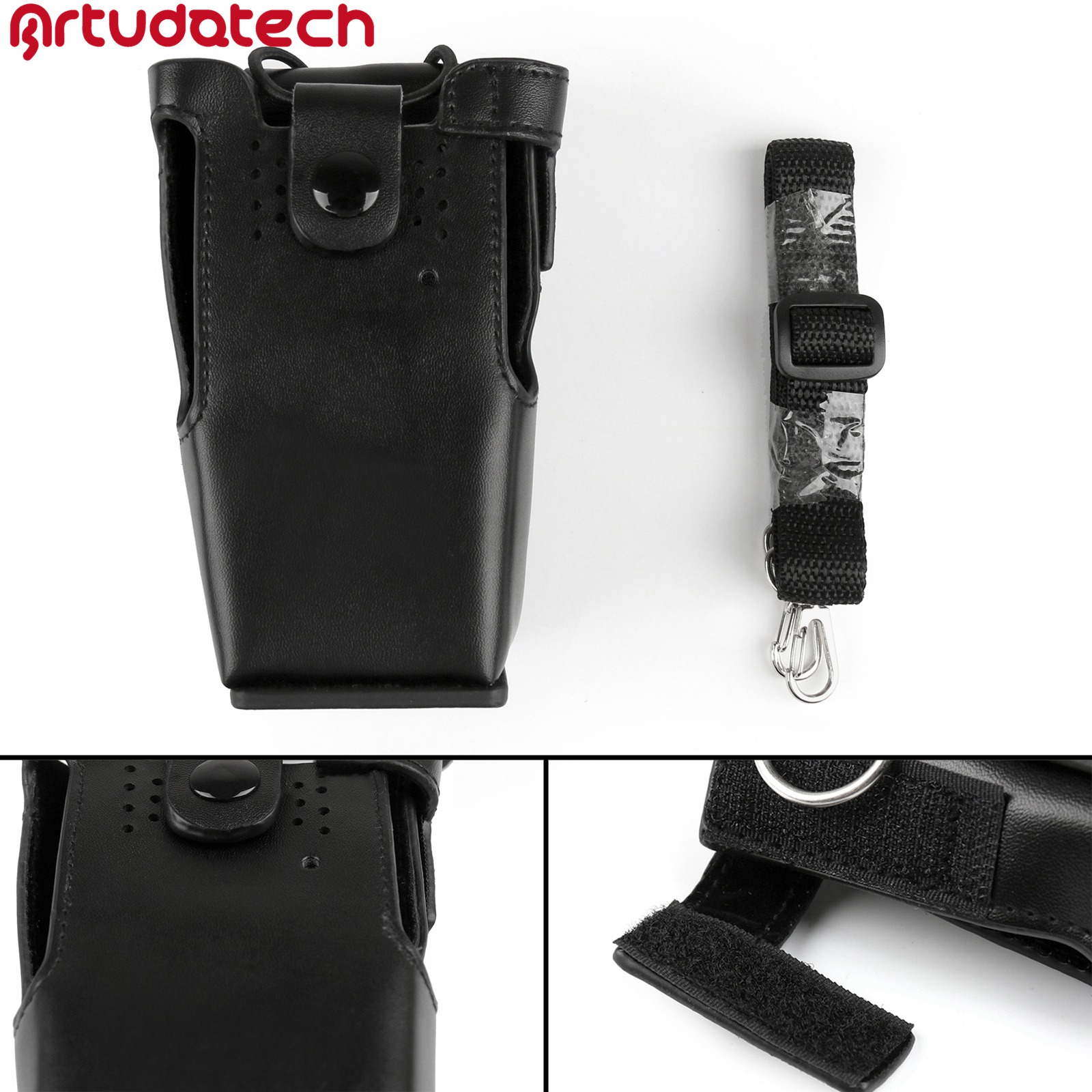 Artudatech Leather Holder Case For Motorola GP32 GP340 GP380 GP3188 PRO5150 HT750 HT1250 EP450 Accessories