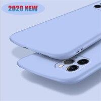 Capa de silicone líquido em formato de arco para iphone, proteção total para os modelos 12 mini, 11 pro, max, se 2020, x, xs max, xr, 6, 6s, 7, 8 plus, novo, 2020