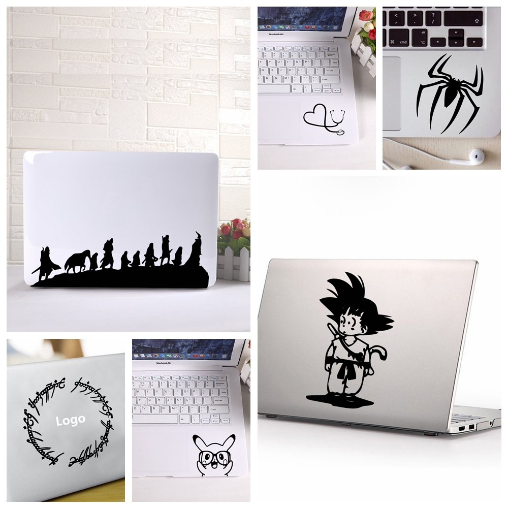 Hot Sale Cartoon Totoro Mickey Computer Skins  Black Notebook Decal Laptop Sticker Vinyl Stickers Tablet Notebook Surface Skin