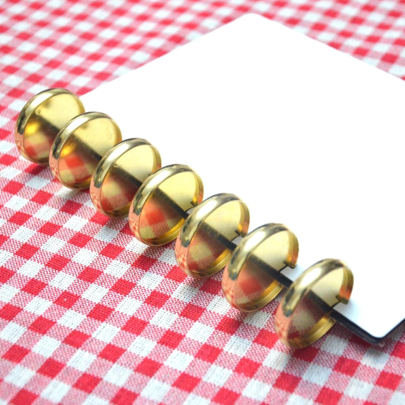 12pcs 35mm Disc Binding A4 Binder Ring For Notebook Paper Ring Planner Ring Binder Mushroom Hole Binder Gold Binding Discs