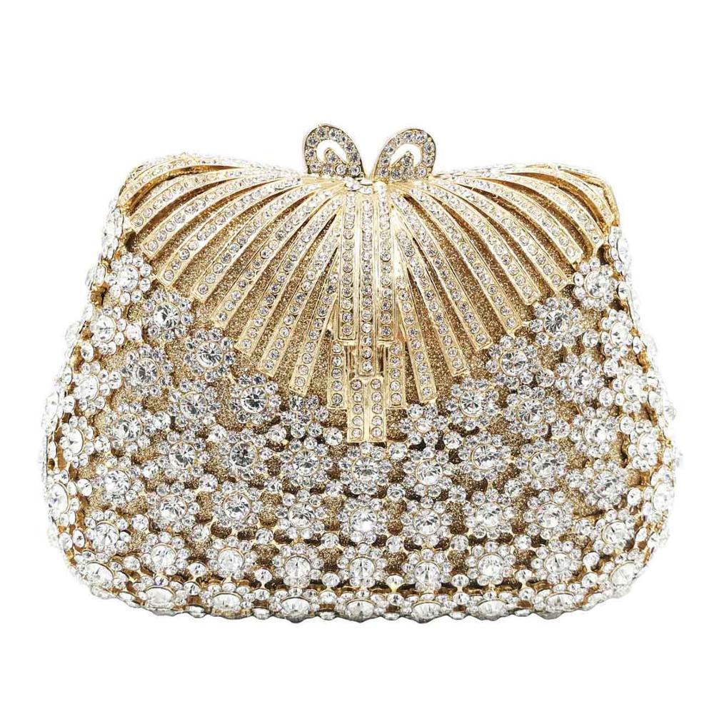 Luxe Silver Diamond Vrouwen Diner Tassen Wedding Party Bridal Clutch Bags Kleurrijke Vrouwelijke Purse Crystal Avondtassen SC918-in Top-Handle tassen van Bagage & Tassen op  Groep 1