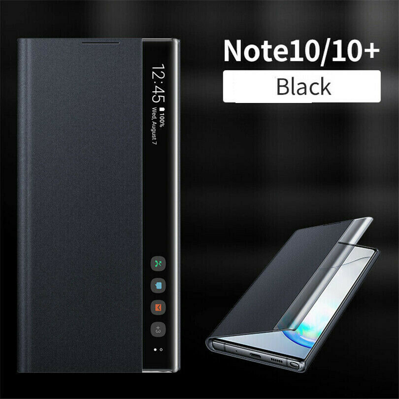 Smart View Leather Case Cover For Samsung S20 A10 A20 S8 S9 S10 Plus S10E S10 Note 10 Plus Note 9 Clear View Window Stand Case