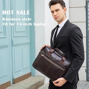 Image 5 - תיק גברים של תיק אמיתי עור אמיתי עסקים לגבר זכר עור תיק מחשב נייד זכר תיק מחשב גברים עורך הדין 8572