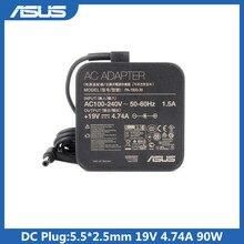 Chargeur dalimentation pour ordinateur portable Asus A42F K550D A55V A8 F80S X43SA EXA1202YH, 19V, 4,74 a, 90W, 5.5x2.5mm ADP 90YD B