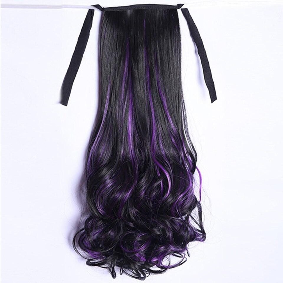 LUPU Wig Ponytail Female Long Curly Hair Big Wave Wig Female Long Hair Piece Braid Natural Tie Type Dye High Ponytail