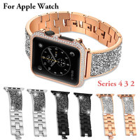 For Apple Watch 4 band 42mm Series 4 3 2 Watch Bands Stainless Steel Replacement Bracelet For iWatch 4 40mm 44mm 38mm strap