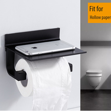 Wall Mounted Toilet Paper Holder Bathroom Accessories Paper Towel Holder With Phone Storage Multi-function Shelves for Bathrooom