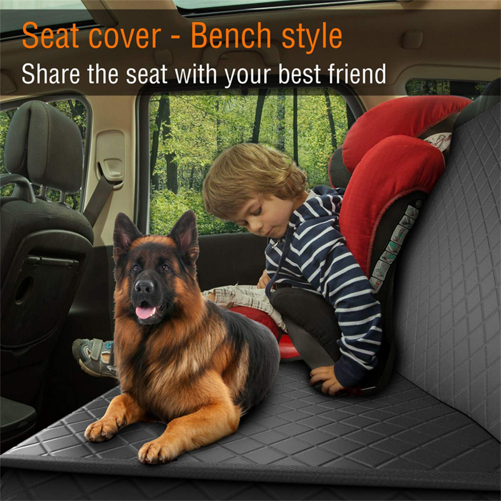 Lanke Dog Back Seat Cover Protector Waterproof Scratchproof Nonslip Hammock for Dogs, Against Dirt and Pet Fur Car Seat Covers 8