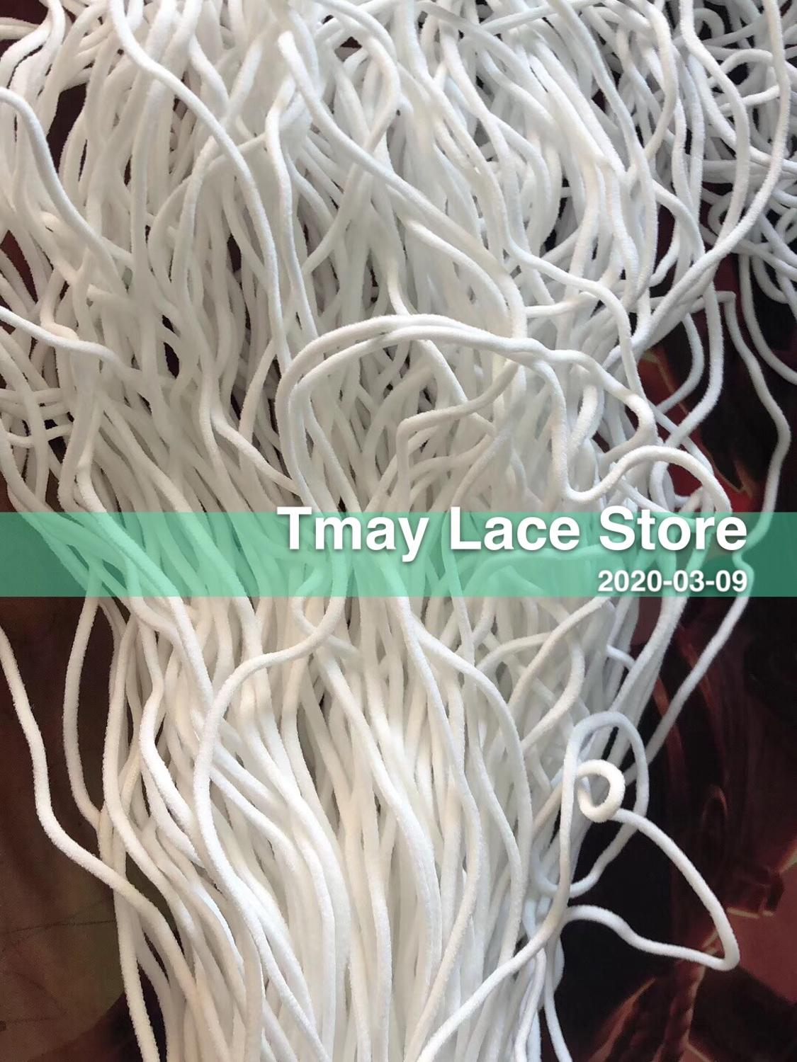 Mask Elastic Bands Mask Rope Rubber Band Tape Ear Hanging Rope Round Elastic Band DIY Clothing Craft Accessories