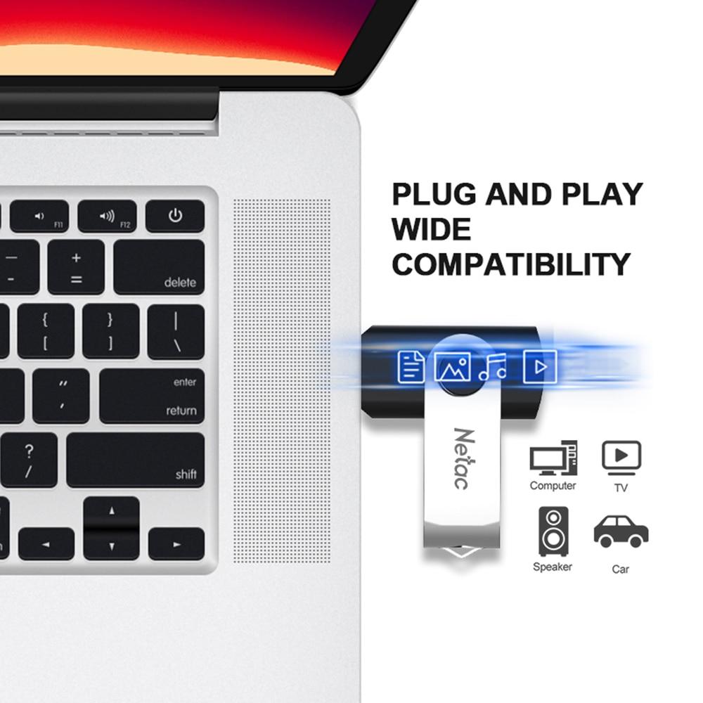 Netac USB Flash Drive 128GB Flash Memory Card 32GB Pendrive 64GB USB Stick 16gb 256gb USB 3.0 Memory stick 128GB For Laptop 2