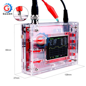 """Fully Assembled Digital Oscilloscope 2.4"""" TFT LCD Display with Alligator Probe Test Clip Transparent Acrylic Case(China)"""