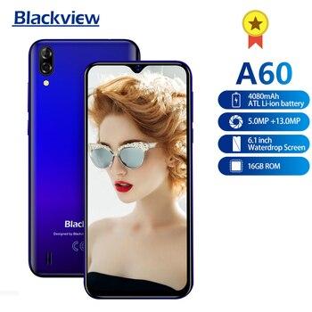 Перейти на Алиэкспресс и купить Blackview A60 смартфон 4080 мАч аккумулятор 6,1 дюйма Двойная камера 1 Гб RAM 16 Гб ROM 3G мобильный телефон 13MP + 5MP камера