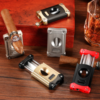 CIGARLOONG Portable Stainless Steel Metal Cigar Cutter Luxury Gadgets Six Color For Choose V Cigar Cutter CL JV002