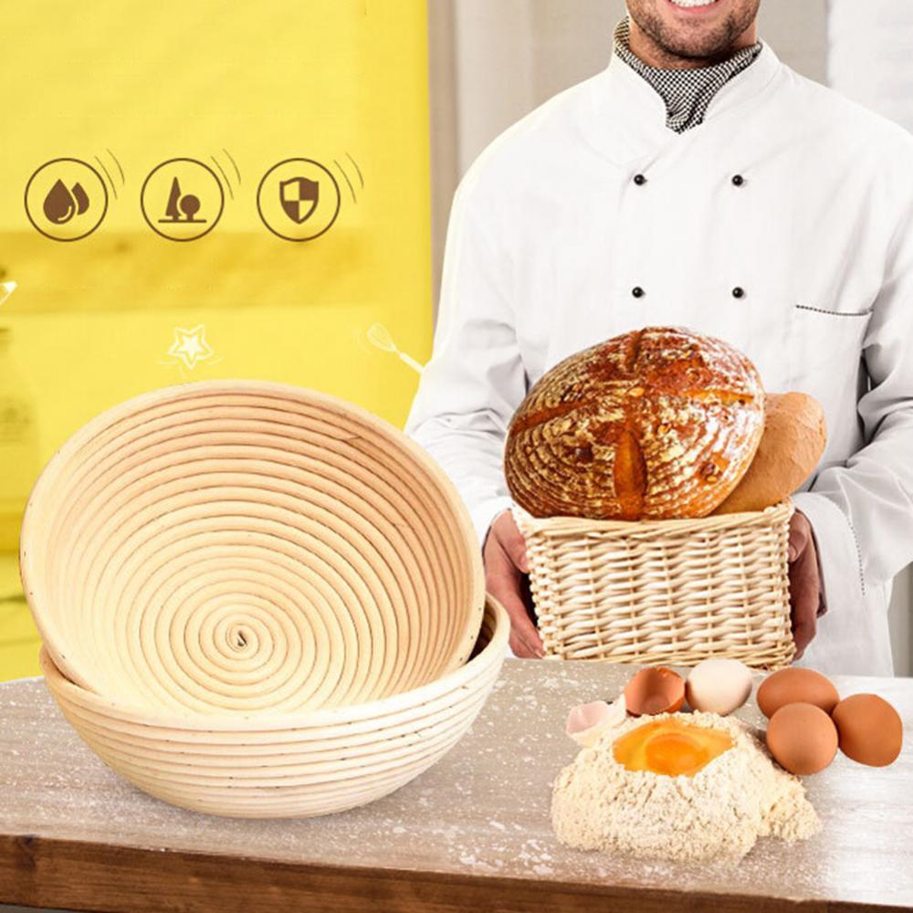 Rattan Storage Tray Woven Bread Fermentation Baking Storage Basket Dough Proofing Holder Garden  Kitchen Bakeware хлебница
