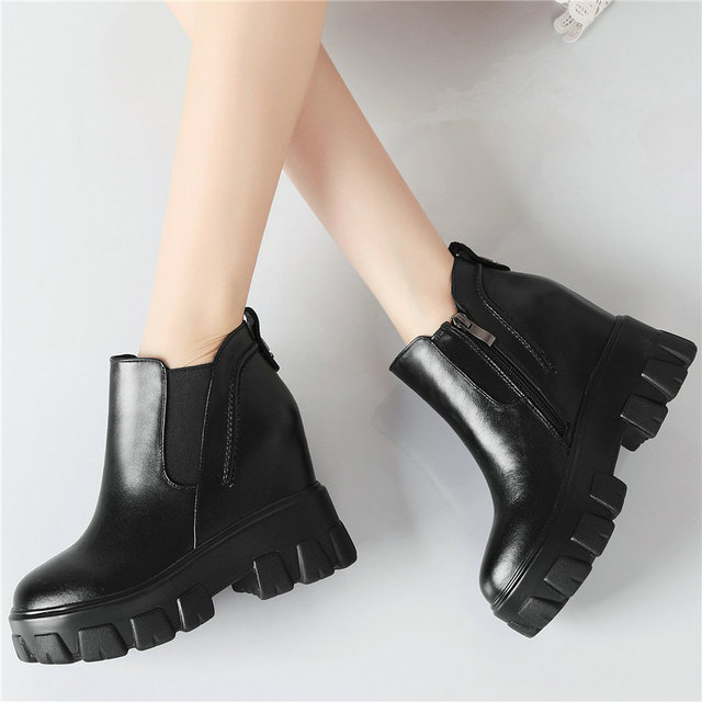 Фото женские туфли на платформе и высоком каблуке черные повседневные цена