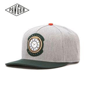PANGKB Brand TIMELESS CAP Clock gray hip hop snapback hat Autumn for men women adult outdoor casual sun baseball cap bone
