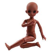 Ucanaan 1/6 nude corpo pele preta 30cm boneca bjd 18 bola articulada bonecas sem roupas meninas diy vestir-se brinquedos