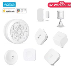 Aqara Smart Home, Casa Intelligente Kit Gateway Hub Umano Del Sensore di Movimento per Porte E Finestre Sensore di Acqua Senza Fili Interruttore Funziona con Apple Homekits