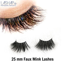 LASHAP  Lashes Mink Hair Thick Natural 25mm High quality Soft Dramatic Handmade lashes Makeup tool