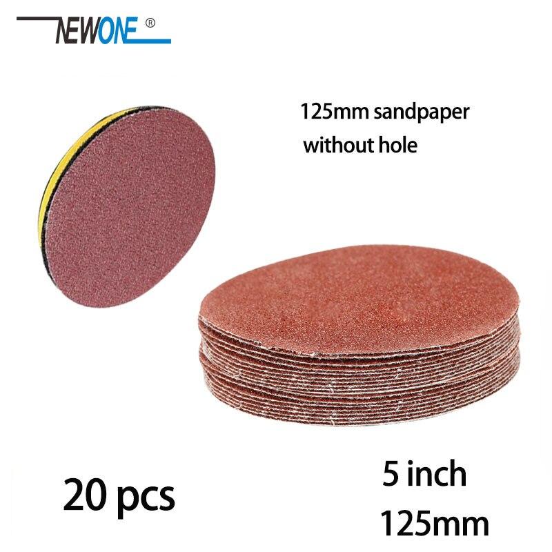 20pcs 125mm Sander Disc Sanding Polishing Paper Sandpaper Disc #40 - #3000 Abrasive Tools For Sander Grits