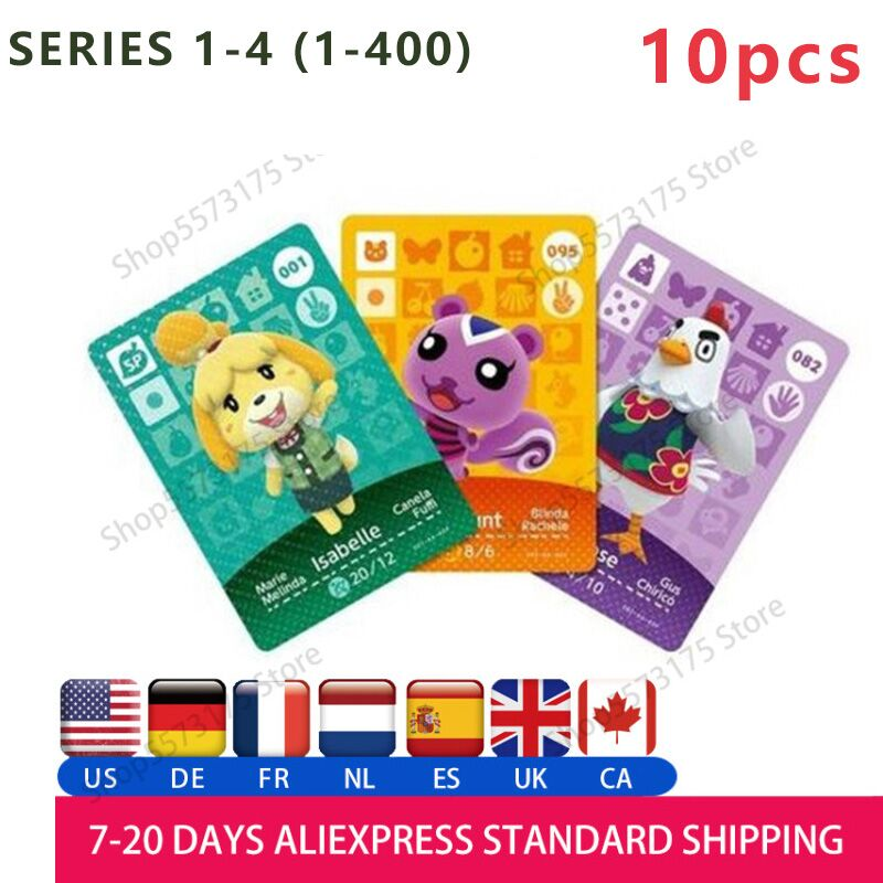 10pcs Animal Crossing Amiibo Card Animal Crossing Cards Series 1/2/3/4 Work For NS Games Amiibo Nfc Card Free To Choose By You