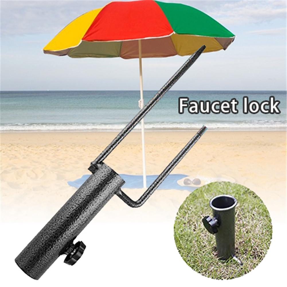 Sun Beach Umbrella Iron Anchor Stand Rain Gear Garden Lawn Patio Parasol Ground Anchor Spike Umbrella Stretch Stand Holder