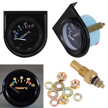 Universal 2 52mm Car Auto Digital LED Water Temp Temperature Gauge Kits 40-120℃