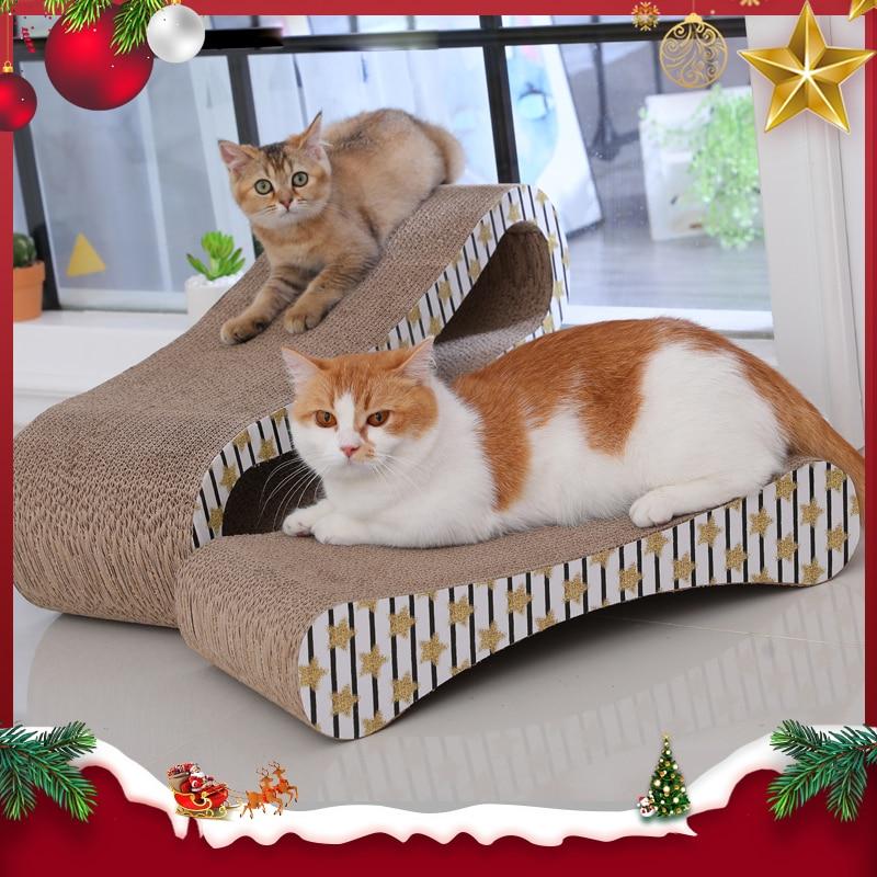 HOOPET 2 Premium Cat Scratcher giocattoli di carta ondulata Cat Scratch Cat Scratch Board con Catnip Infinity Lounge ondulato