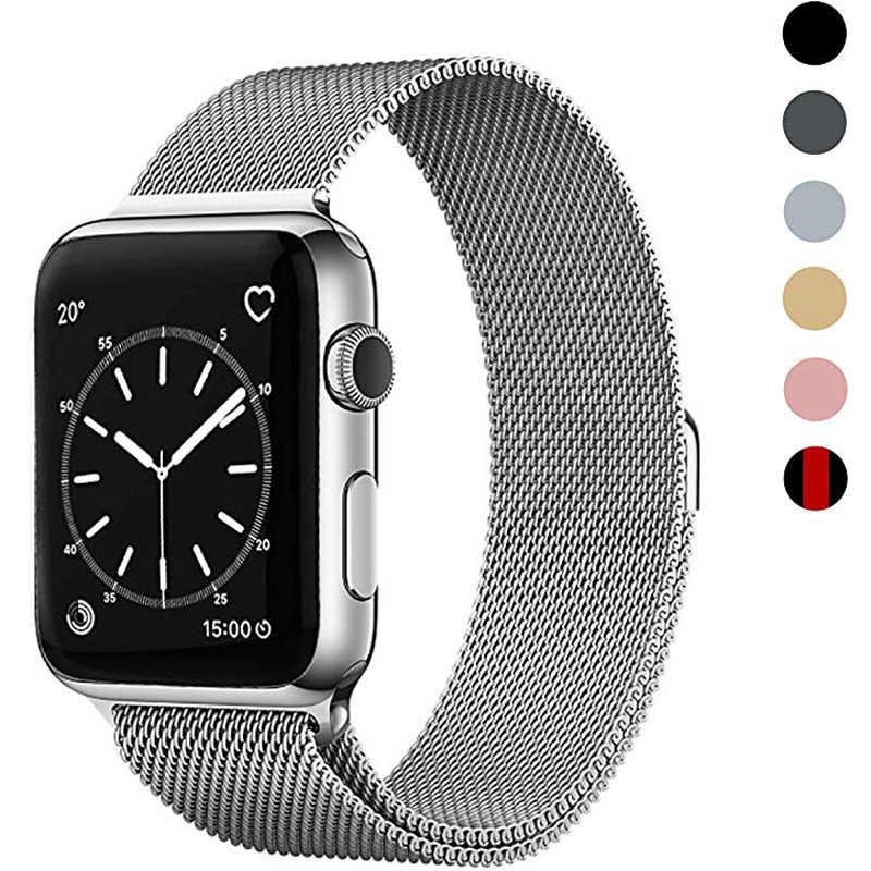 Milanese döngü band kayışı Apple İzle serisi 5/4/3/2 38mm 42mm 40mm 44mm paslanmaz çelik kayış bilek bilezik için iwatch