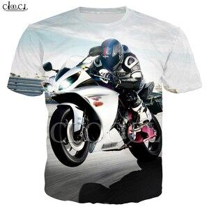Image 5 - זרוק משלוח אופנה מוטוקרוס T חולצה גברים של נשים של 3D הדפסת מכונית ספורט קצר שרוול היפ הופ זוג ללבוש אסיה גודל S 5XL חולצות