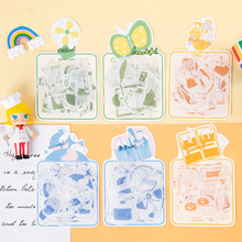 40Pcs/pack Gentle Shop Series DIY Diary Scrapbooking Photo Ablums Decoration Stickers for Kids