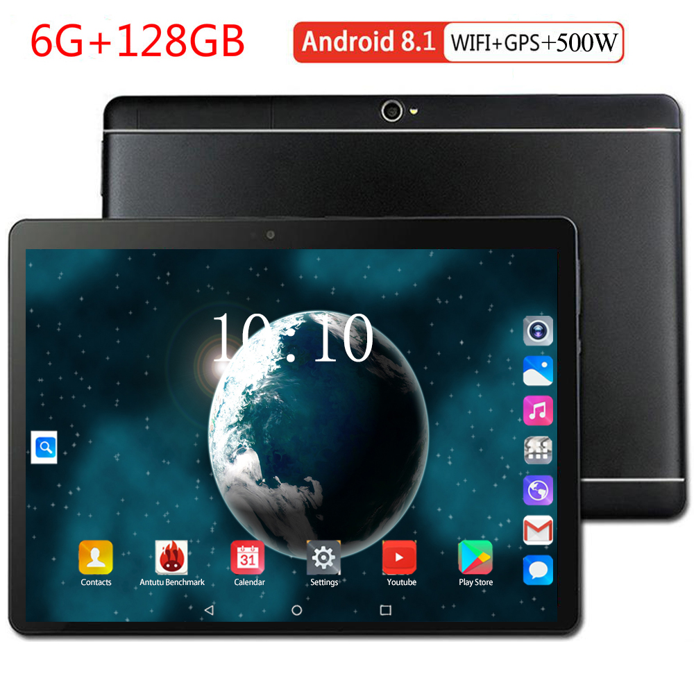 2020 New 10.1 Inch Wifi Tablet PC Android 8.0 OS Octa Core 6GB RAM 128GB ROM 8 Cores 1280x800 IPS Phablet Tablets 10.1 9 8