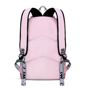 Image 2 - OKKID الأطفال الحقائب المدرسية للفتيات لطيف الوردي على ظهره المدرسية الكورية نمط bowknot الفراء الكرة فتاة حقيبة المدرسة bookbag