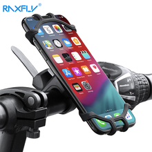 RAXFLY Bicycle Silicone Phone Holder Universal Mobile CellPhone Holder Accessories for phone Bike Bracket Mount Handlebar Clip raxfly bicycle phone holder for iphone samsung motorcycle mobile cellphone holder bike handlebar clip stand gps mount bracket