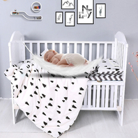 7Pcs Baby Bedding Set Cotton Crib Bed Linen Kit For Boy Girl Cartoon Cot Include Pillowcase Bed Sheet Duvet Cover Without Filler