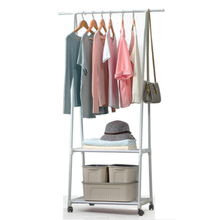 Rack Wardrobe Bedroom Removable Hanging-Clothes Modern with Wheels Floor Standing Multi-Function