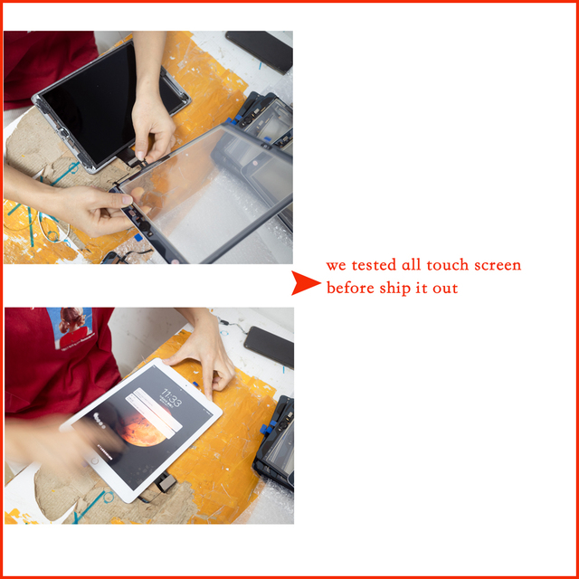 2017 A1822 A1823 Touch Screen For iPad 5th Generation 5 Digitizer  Front Glass With home button +cable+Tools+Tempered Glasss 4