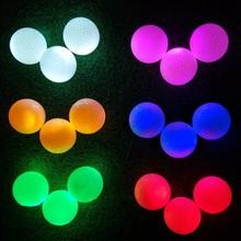 61 Colors Golf Balls LED Glowing Golf light up led golf balls Glowing Long-lasting Night Sports course