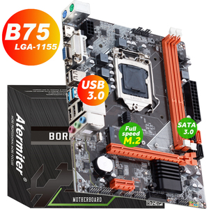 atermiter B75 Motherboard For Intel LGA 1155 i3 i5 i7 E3 DDR3 1333/1600MHz 16GB SATA3.0 USB3.0 PCI-E VGA HDMI GAME