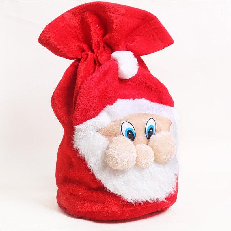 Рождественские украшения Санта-Клаус Подарочный мешок Санта-Клаус бархатный Подарочный мешок