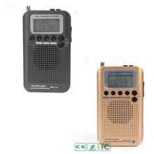 HRD-737 Digital LCD Display Full Band Radio Portable FM/AM/SW/CB/Air/VHF World Band Stereo Receiver Radio with Alarm Clock tecsun green 88 green88 fm am sw full band economical environmental emergency radio with light dynamo hand cranking rechargeable