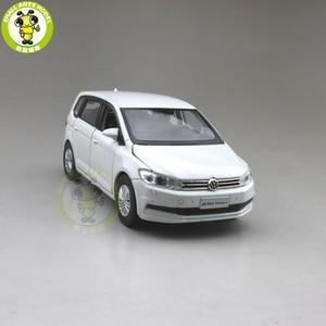 Image 4 - 1/32 Jackiekim TOURAN MPV VAN Diecast Model CAR Toys kids Sound Light Pull Back Gifts