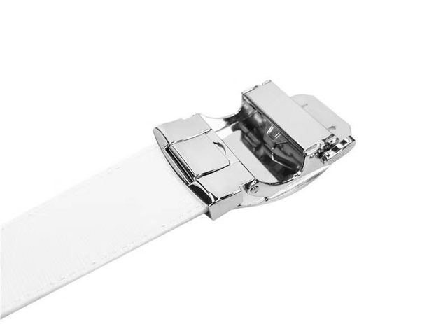 Men's Golf Belt Fashion Alloy Buckle  Automatic Buckle Leather belt Length 120CM Can Be Cut High Quality Golf Accessories 5