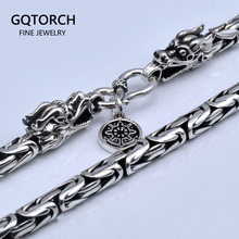 Chain Necklace Vintage Fine-Jewelry Handmade Male Pure Real Men Silver 925-Sterling-Silver