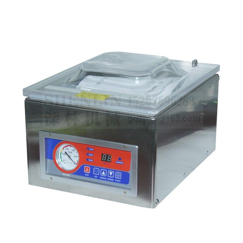 SHENLIN DZ260C scellage sous vide table style emballage sous vide sac en plastique machine d'emballage en aluminium sac scellant sous vide 255mm 110/220 - 3