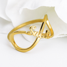 Модные Изготовленные На Заказ Кольца Для Женщин Простой Из Нержавеющей Стали Золотой Крест Палец Персонализированные Ювелирные Изделия Подарок Свадьба Подруги Невесты